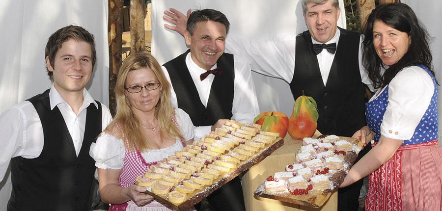Hotel Hochfilzer, Ellmau, Austria - Buffet & staff.jpg
